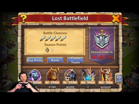 JT's Free 2 Play Lost Battlefield AMAZING Start Castle Clash