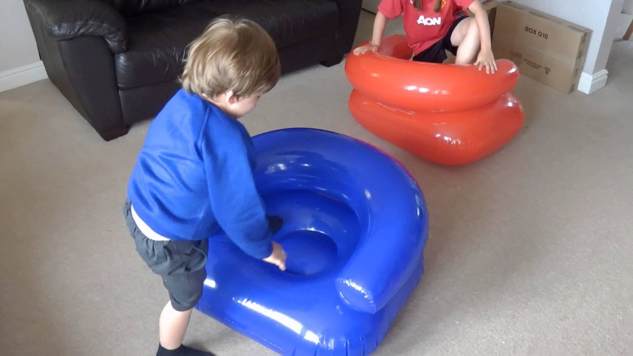 Playing with Inflatable Chairs - YouTube