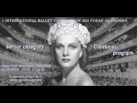 Ballet competition Mia Corak Slavenska - Senior category, classical program - July 7, 2016 in Zagreb