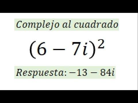 Numero complejo elevado al cuadrado
