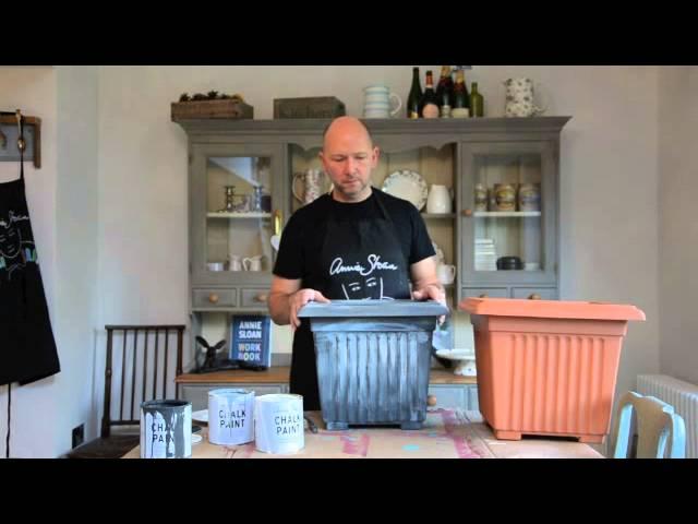 Annie Sloan Chalk Paint Painting Plastic Plant Pots Dovetails Tip 2 Youtube