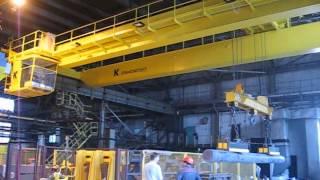 видео Кран мостовой двухбалочный. 16 тонн, 16,5 метров. Изготовление и монтаж в Иркутске