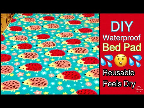 DIY Make Your Own Reusable Waterproof Bed Pad Elderly Bedwetting Incontinence