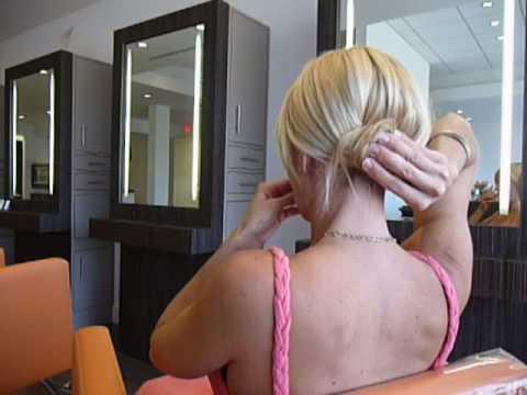 Single Bun Updo Hairstyle How To thumbnail