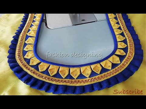 Stitching Of A Beautiful Blouse Back Neck Design At Home | Fashion Designing
