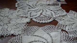 Мои связанные салфетки. История вязания крючком.