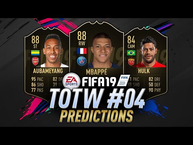 FIFA 19 TOTW 4 PREDICTION | IF Mbappe, IF Hulk, IF Sabitzer, IF Barkley & More!