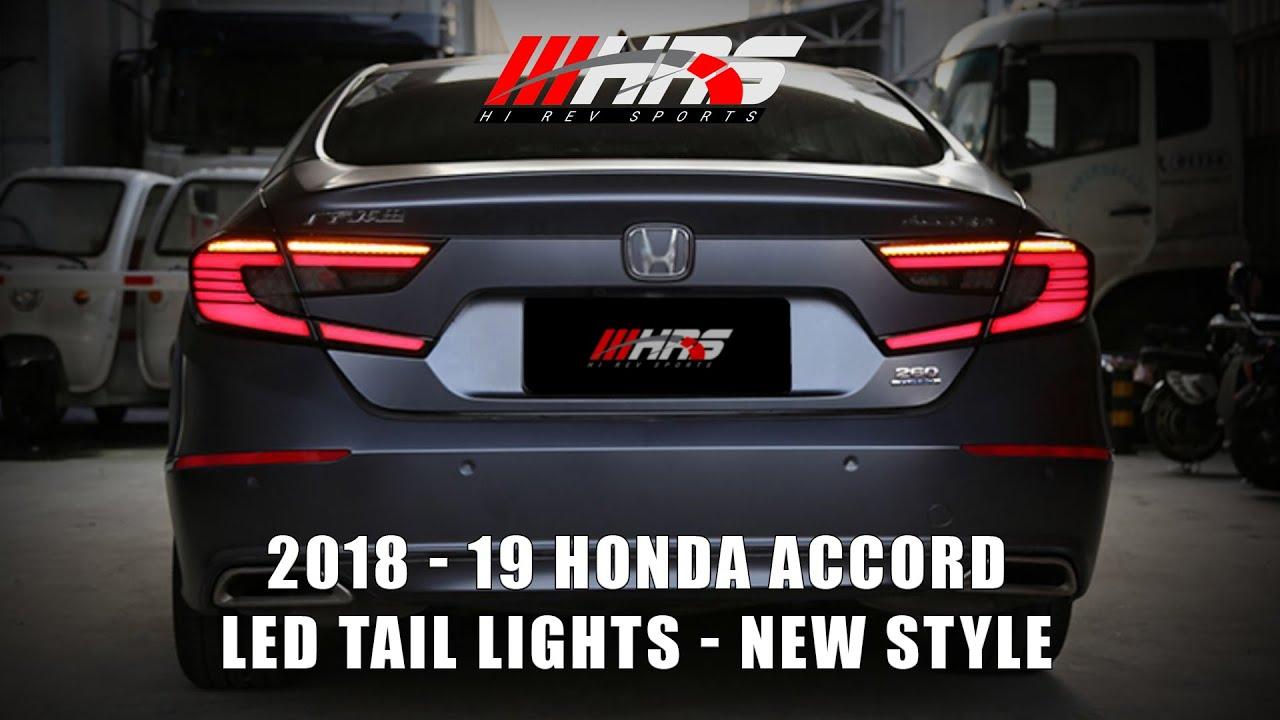 2018 2019 Honda Accord Led Tail Lights New Style