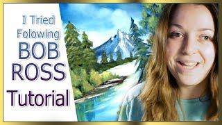 I Tried following a BOB ROSS tutorial ♦ Sakuems ♦ Painting video canvas Art