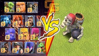 ALL TROOPS VS. GIANT SKELETON (Clashmas Update 2017) | Clash Of Clans