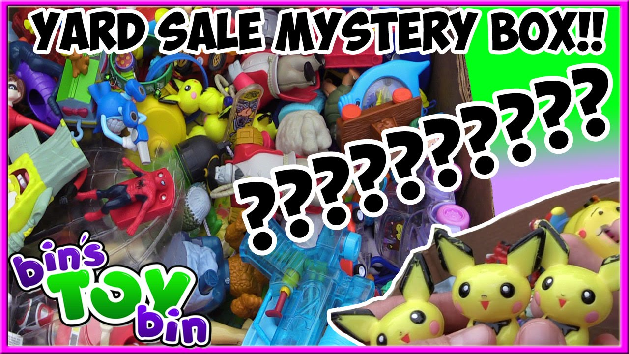Garage Sale Mystery The Beach what's inside the yard sale mystery box of fast food toys!? disney, pokemon  & more! | bin's toy bin