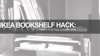 Ikea Bookshelf Hack: Artist's Flat File