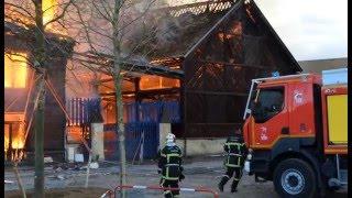 Presqu'Île de Caen: incendie du pavillon Savare