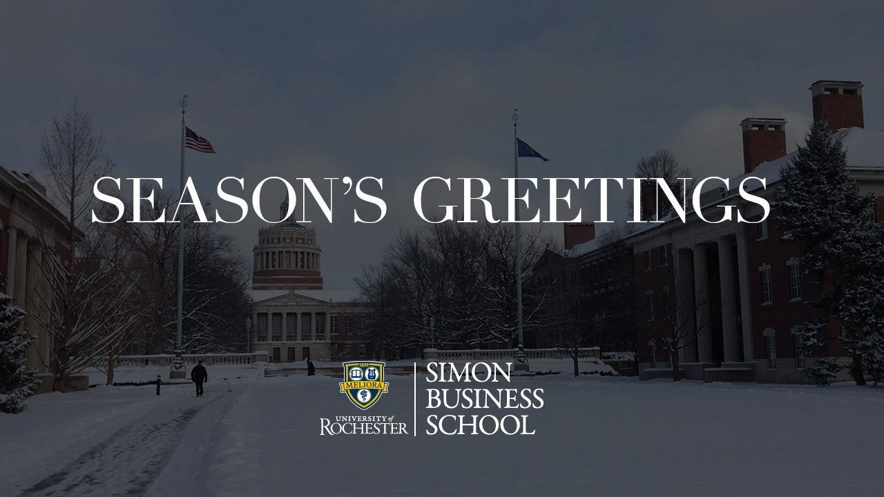 2016 Simon Business School Holiday Card - YouTube