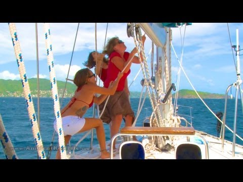 SIRENS OF SAILING - Day 4 - Sailing Lessons to Petit Nevis,