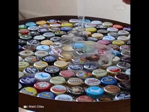 This Beer Cap Table Would Be So Fun To Make DIY