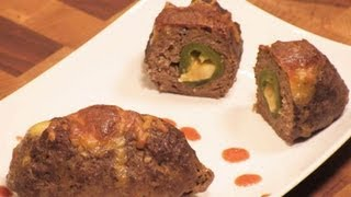 Easy Stuffed Meat Ball Recipe - Jalapeno And  Cheddar -