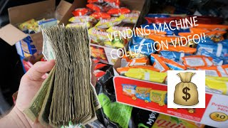 HOW MUCH $$ DID I MAKE OFF 6 VENDING LOCATIONS?  COLLECTION VID 2019