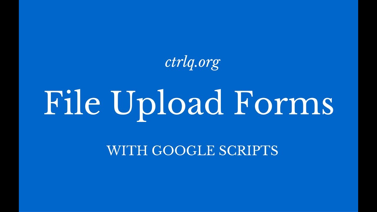 How to Create Forms that Allow File Uploads in Website or Blog