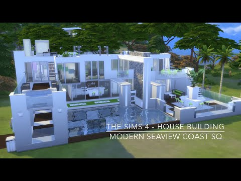 The Sims 4 - House Building - Modern Seaview Coast SQ