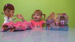 Лялька Доктор Плюшева і її кращі друзі розпакування іграшок Doc Mcstuffins Disney toys