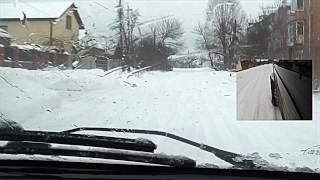 Смарт - поведение зимой на широкой резине