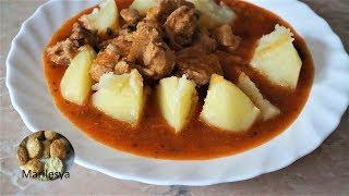 Гуляш с картошкой, простая сытная еда! Goulash