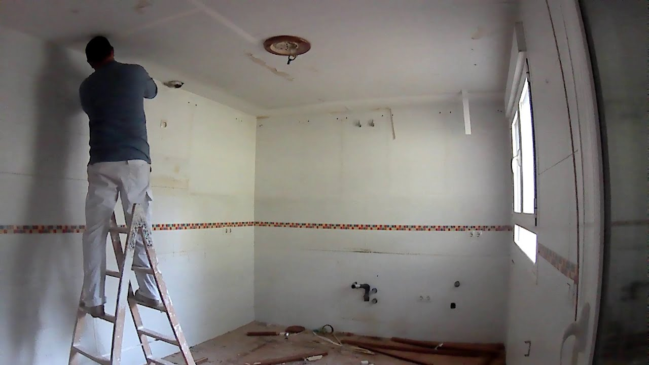alisar y pintar sobre azulejo , paredes alicatadas
