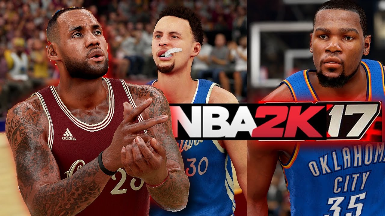 NBA 2K17 My GM Part 1 Gameplay Big 3 Challenge: Stephen Curry, LeBron James, Kevin Durant ...