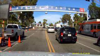 Driving to Dodger Stadium SUNSET Gate