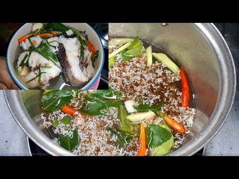 How to cook snakehead fish Boil with ant eggs  , Laos food