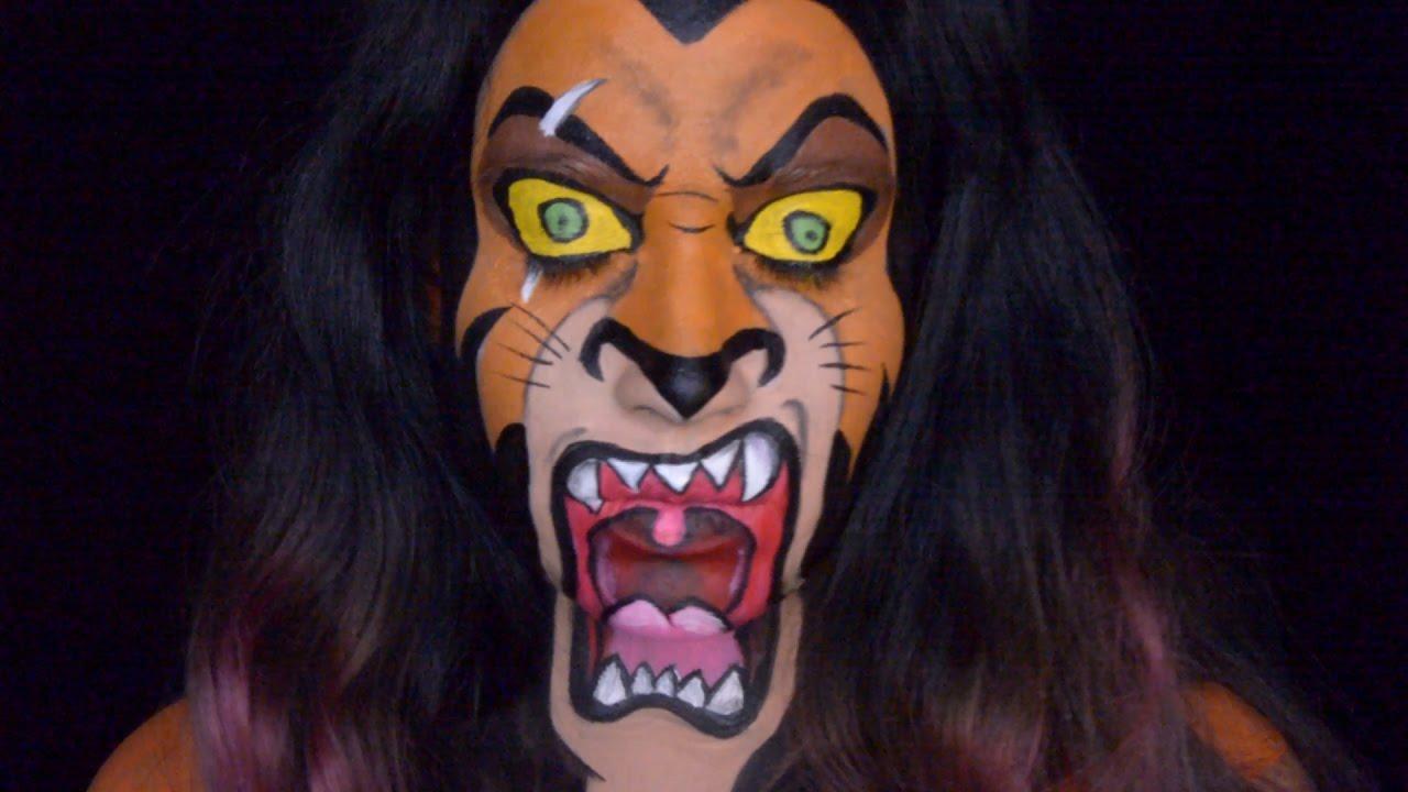 Uncategorized Scar Lion scar from the lion king makeup tutorial youtube tutorial