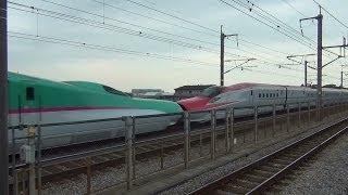 今回はE6系+E5系、2013年9月28日ダイヤ改正で消滅したE3系0番台(R編成...