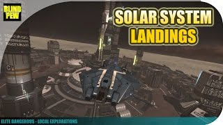 Elite Dangerous - Local Explorations - Solar System Landings Part 1: Mercury, Earth, Mars, etc