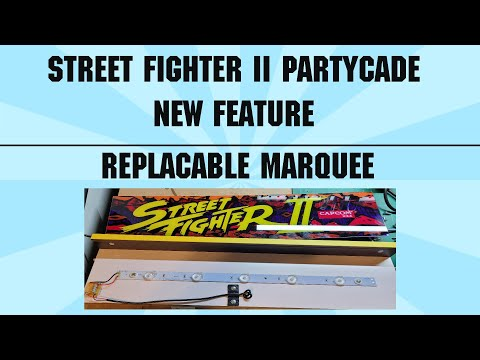 ARCADE1UP PARTYCADE: New Marquee In Street Fighter II Partycade. Replaceable Marquee from TheRealSmilebit