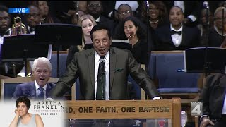 Smokey Robinson Speaks At Aretha Franklin's Funeral