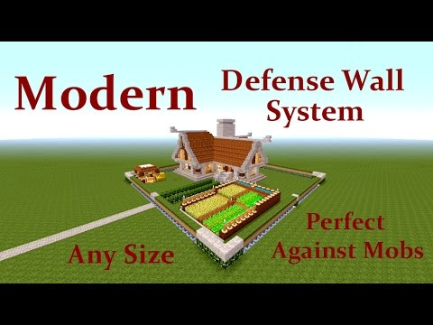 Minecraft Tutorial : Modern Wall Defense System