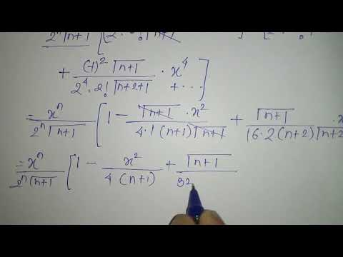 Bessels differential equation, m4 (In Hindi)