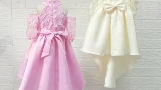Кружевное платье принцессы для свадебной вечеринки маленьких девочек на день рождения с бантом