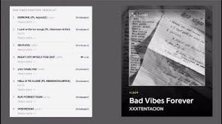Gambar cover XXXTENTACION Bad Vibes Forever Album Original Track List Thoughts 2019