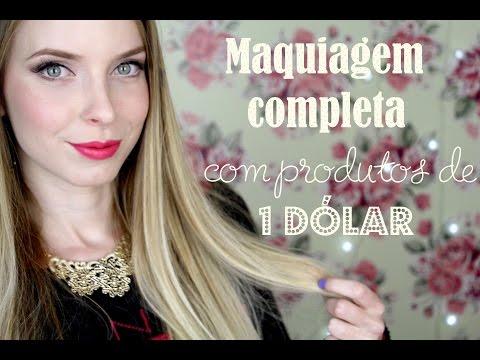 Tutorial: Maquiagem Completa SÓ com Produtinhos de US$1