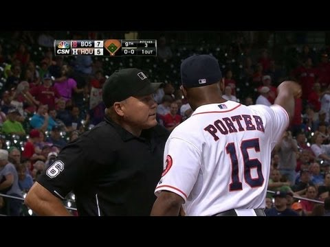 BOS@HOU: Porter ejected after disputing strikeout