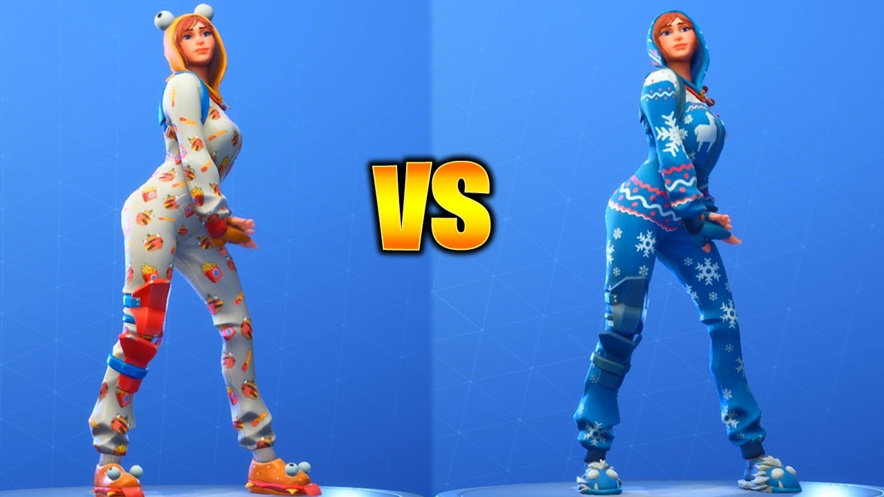 Picture Of Onesie From Fortnite Onesie Skin Fortnite Dances With All Emotes Winter Style Overdrive Emote Included Youtube