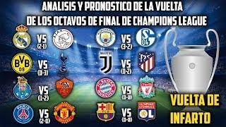 PRONOSTICO Y ANÁLISIS de la VUELTA de los Octavos de final de la Champions league 2018/19