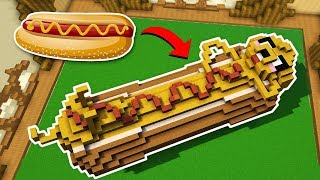 ¡ESTE PERRITO SI ESTÁ BIEN CALIENTE! 😂🤤 HOT DOG EN MINECRAFT BUILD BATTLE #30