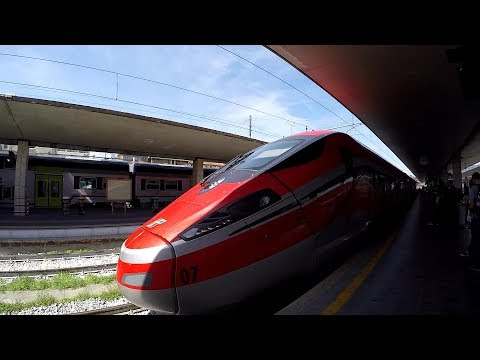 Frecciarossa 1000, Florence to Venice, Italy's High Speed Train, 2017 HD Video