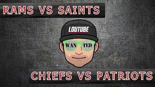 RAMS VS SAINTS | PATRIOTS VS CHIEFS | NFL CONFERENCE CHAMPIONSHIP PREVIEW