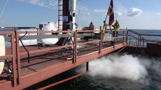 Nexø II at sea for it's last major test before launch