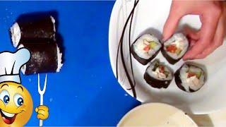 РОЛЛЫ С КУРИЦЕЙ в домашних условиях пошаговый видео рецепт