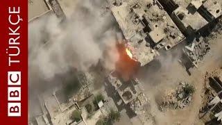 Şam'daki savaş ve yıkımın havadan görüntüleri - BBC TÜRKÇE